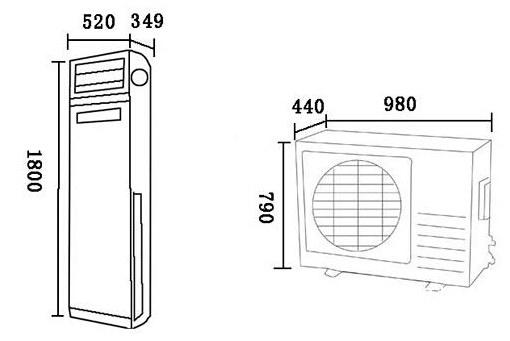 成都废旧空调回收:家用柜式空调尺寸是多少