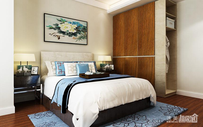 新中式风格两居室装修案例效果图