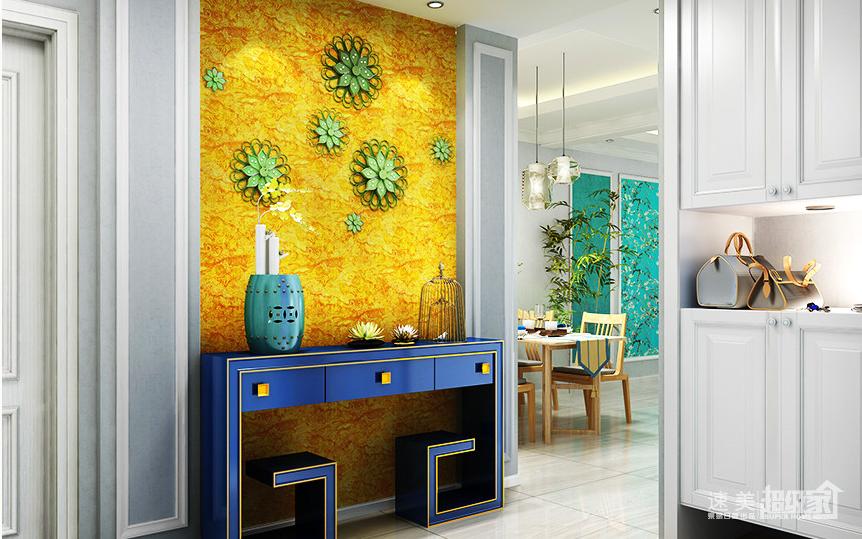 现代简约风格三室两厅装修案例效果图