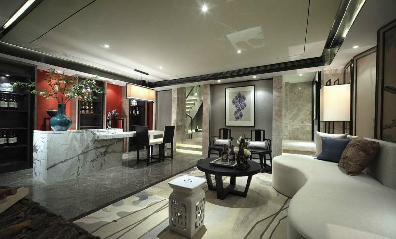 新中式风格-上海院子别墅