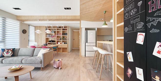 【艺设计】大户型也可以小清新,木质元素家居的文艺质感