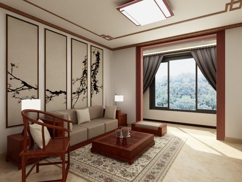 汇景轩110平米中式风格