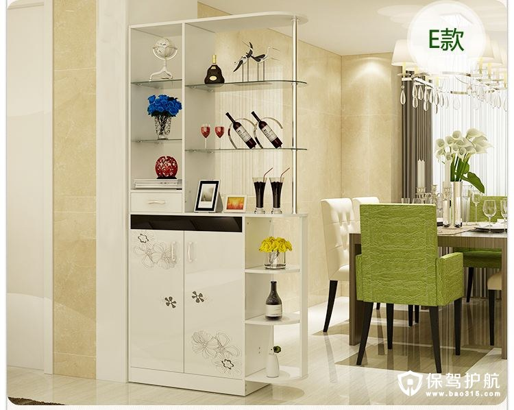 2,餐边柜最好选择色彩柔和,具有浪漫的生活气息,而欧式餐边柜图片