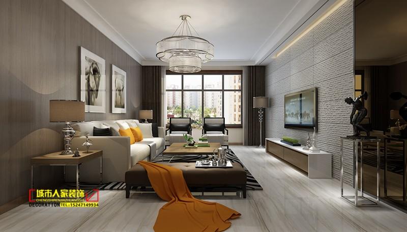 恒泰盛都137现代风格客厅整体效果图呼市城市人家装饰乌云15247149934.jpg