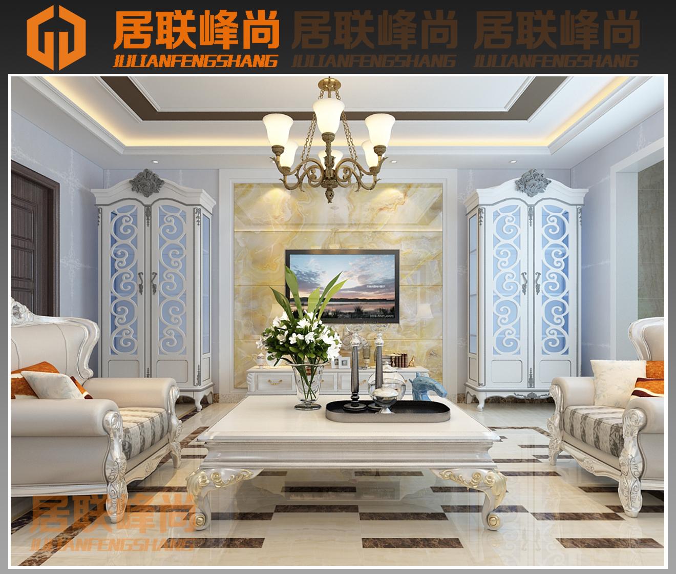 西城济水上苑170平简欧风格设计