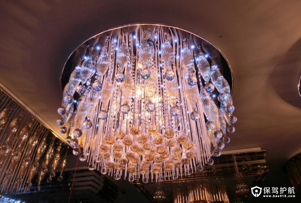 水晶吊灯的选购和安装