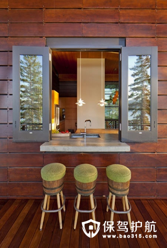 上面这款窗外吧台的设计效果,惟妙惟肖,就像一个为你贴心服务的便利店