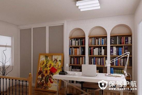 不同风格的书房的装修效果