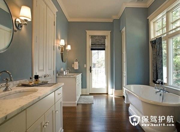 不同风格的浴室的装修效果图