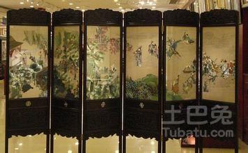 琉璃工房蘇繡屏風傳統的針法