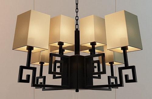 客厅如何安装新中式吊灯