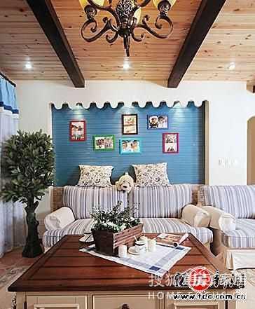 小方砖 马赛克 7万打造温馨地中海风格家
