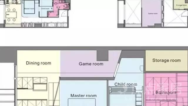 国外旧房改造案例,看36㎡空间如何高效利用