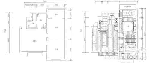 温馨家吹起简约风 76平小户型旧房改造