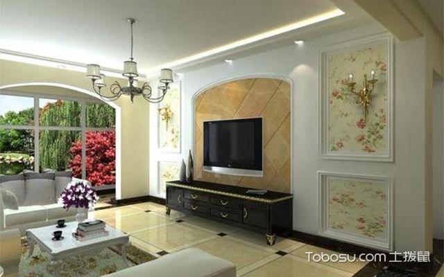 石膏线电视墙一般会选用石膏线作为墙面的框架,各式各样的图案和形状图片