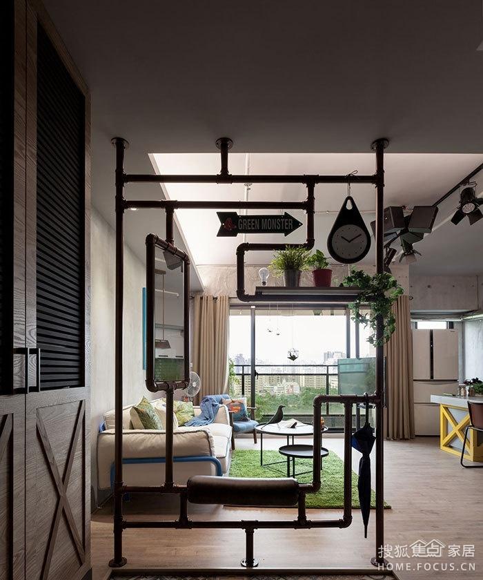 122平旧房改造工业混搭细节令人赞叹