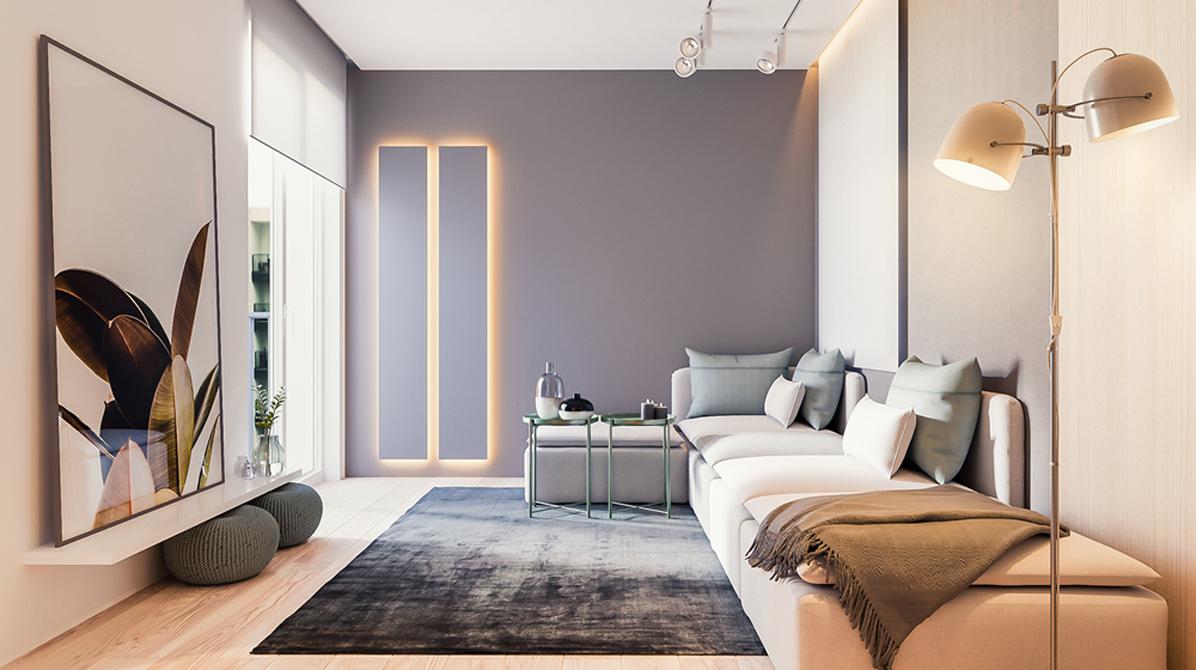 阳光郡-现代简约-三居室装修效果图
