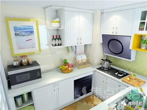 小厨房,但装修技巧好!美观收纳都不在话下