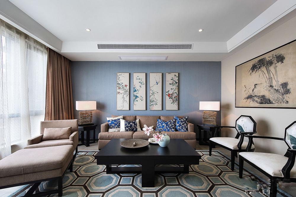 天阳尚景国际-新中式风格-四居室装修效果图