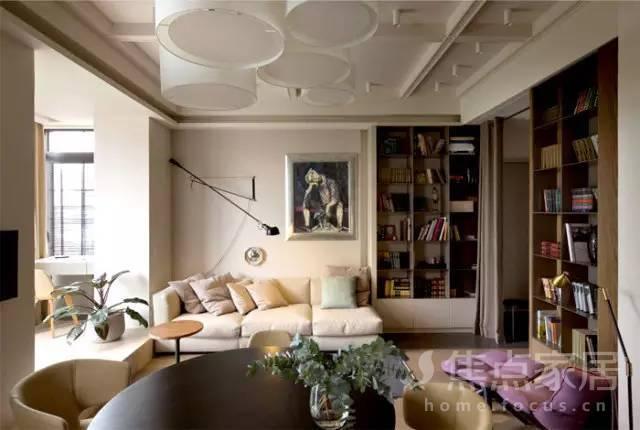 超温馨的45平单身公寓,柔和的色调让整个空间温暖起来!