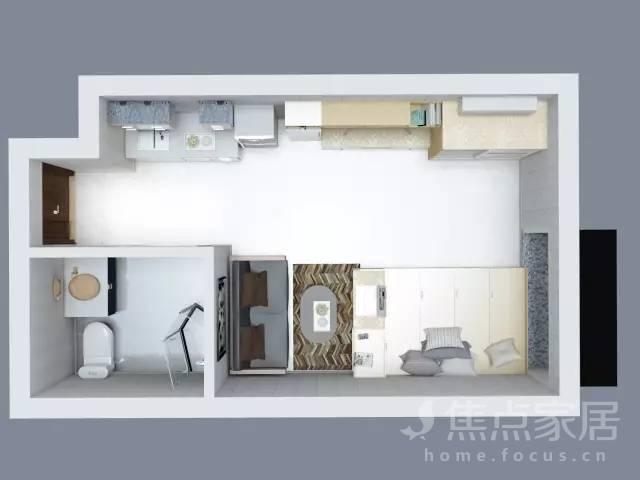 40平长条形单身公寓装修