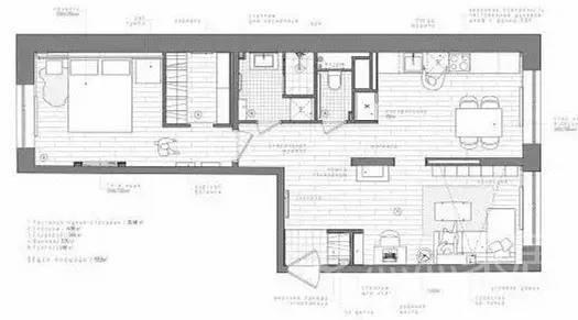 60平L型小公寓