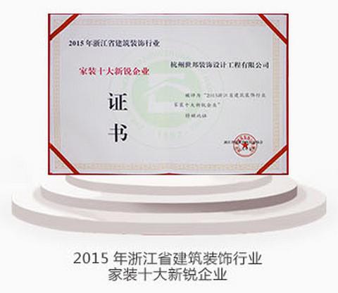 2015年浙江省建筑装饰行业家装十大新锐企业