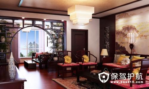 客厅阳台博古架隔断的不同造型