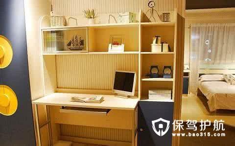 不同风格的书桌书柜组合设计