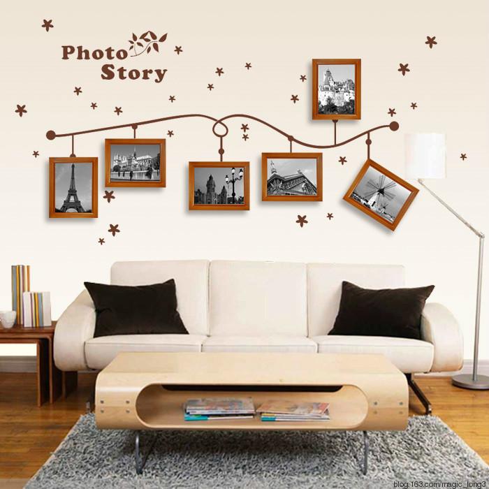 个性化照片墙设计花式挂法