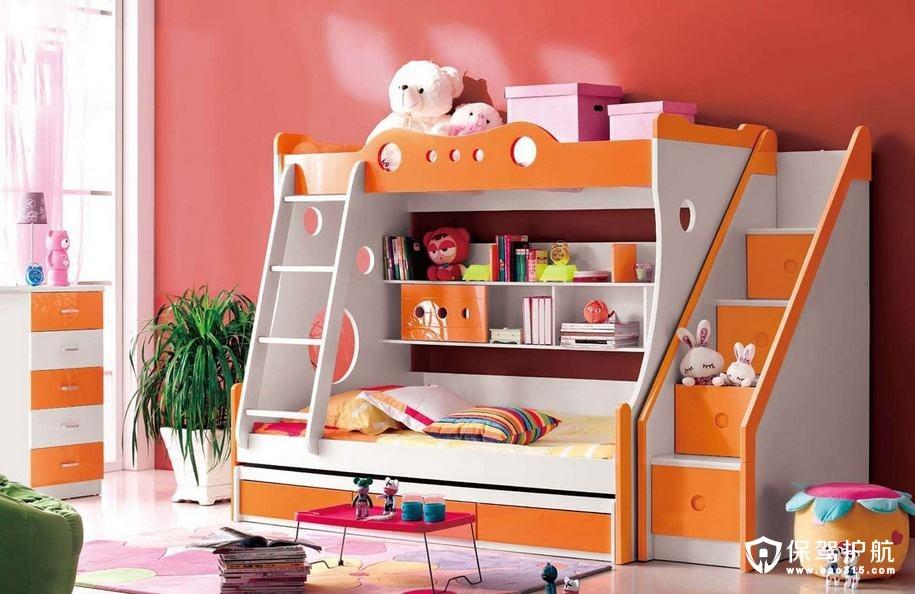 儿童房卧室家�K具如何摆放