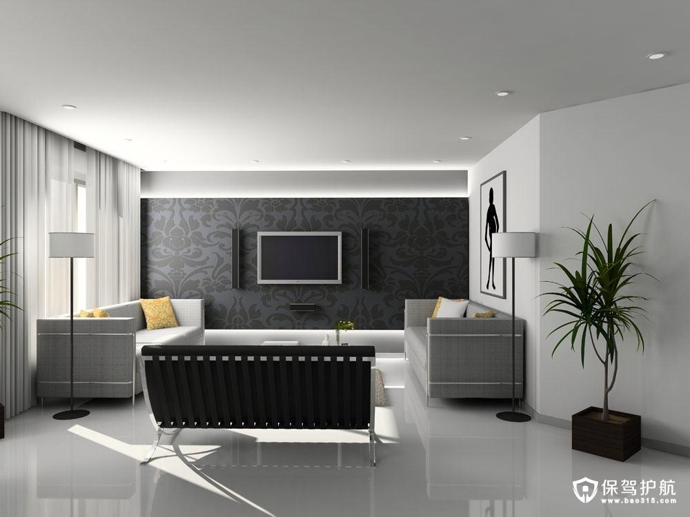 通常,电视背景墙就是客厅风格的体现,所以设计师在设计