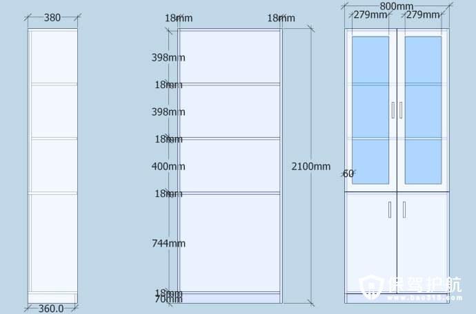 书柜尺寸标准是多少?书柜多高才适合?