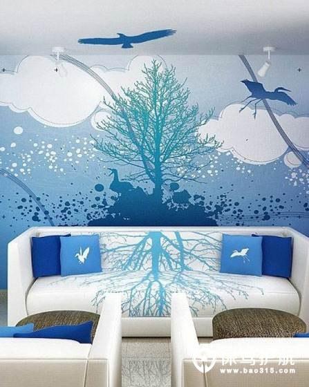 手绘墙的价格,主要以区域为单位来计算的,一个家庭装修