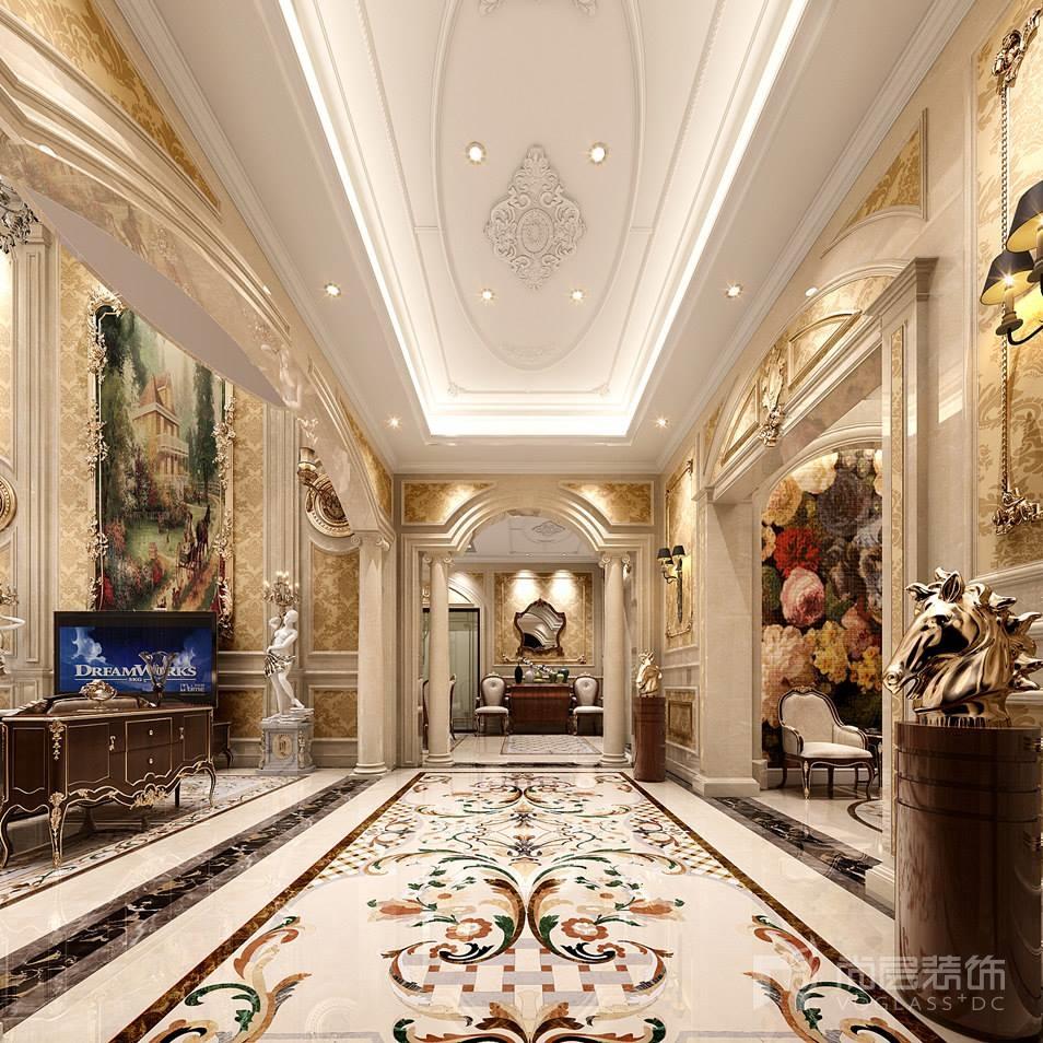 胜芳别墅700平米英式风格装修效果图