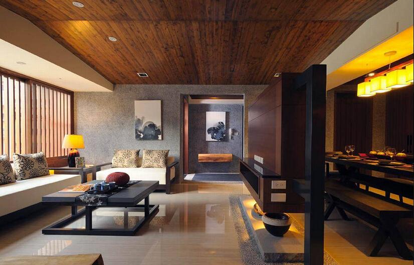 158平日式三居室,原木自然的领域空间