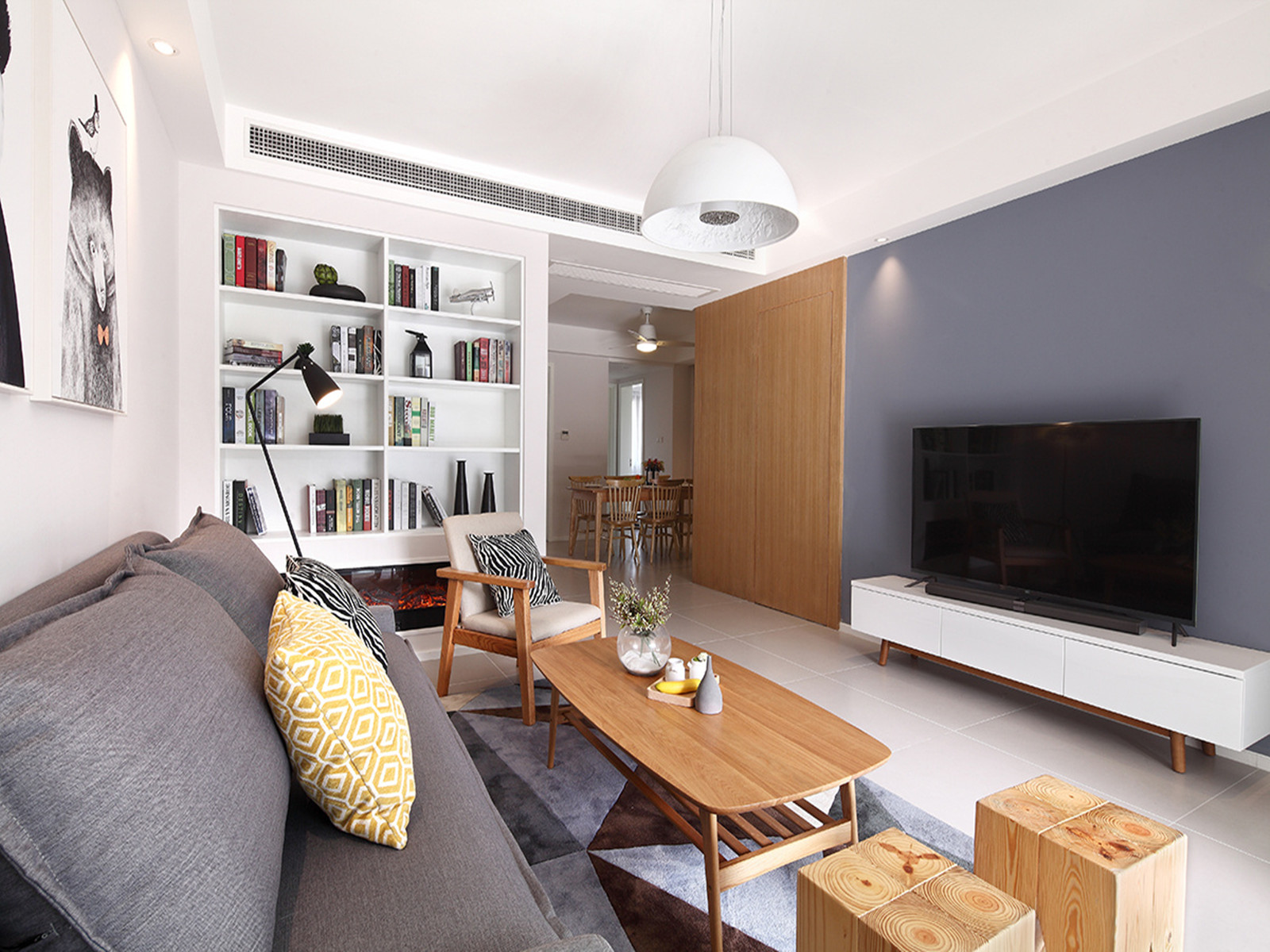 绿都澜湾89平小三房简约风格设计