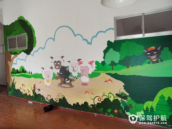 手绘墙素材有哪些 室内墙绘图片