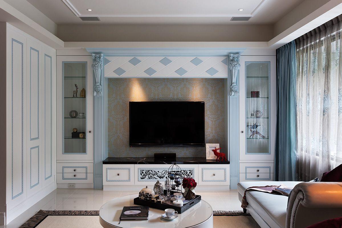 海马公园120㎡两居室现代简约风格