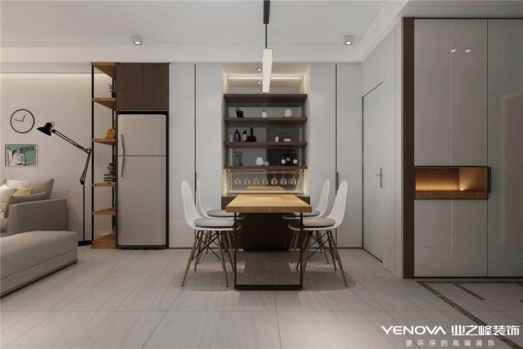 保利香槟国际95平米现代风格设计装修效果图——太原业之峰