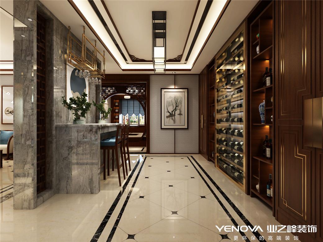 嘉缘小区150平米新中式风格设计装修效果图——太原业之峰