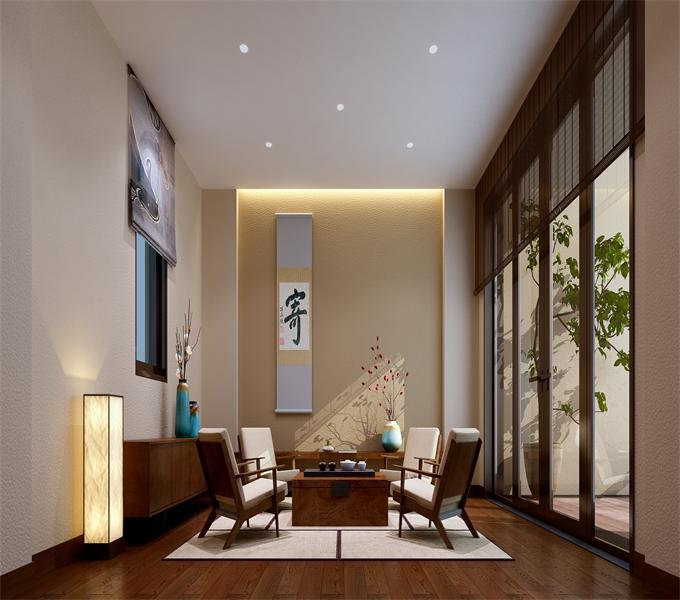 4日式客厅 其实中日文化之间本来就有不少共通之处,日式风格相对于中式可能要更加简洁轻盈一些,气息没有那么浓重,而且日式家居中装修中木质、竹质、纸质的天然绿色材料使用非常多.jpg