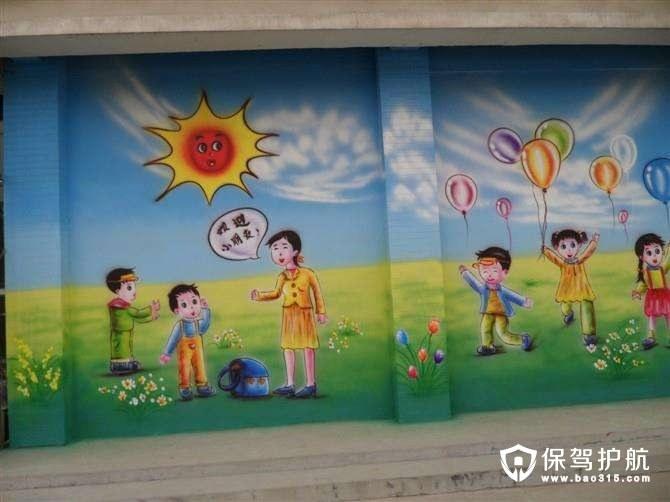 常见幼儿园墙画布置
