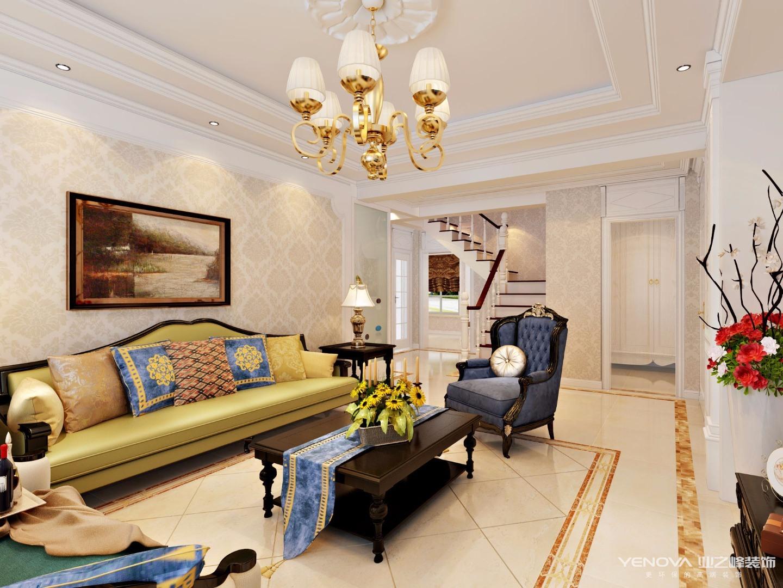 明珠家园效果图(218㎡)美式设计