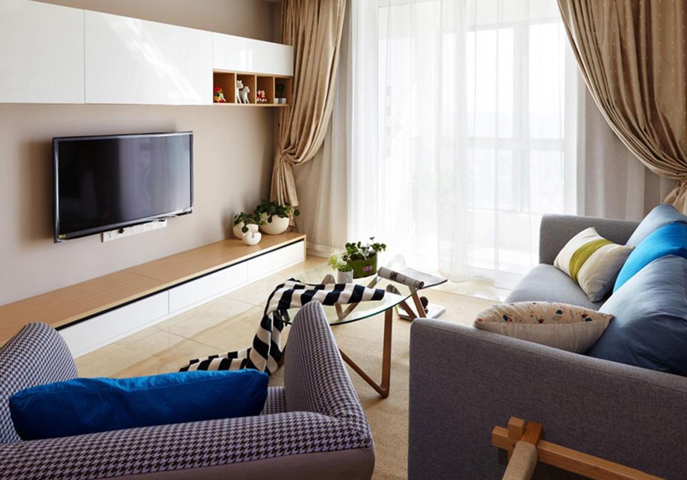 理想银泰城-北欧风格-三居室效果图