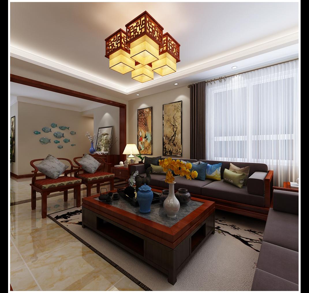 洄龙小区140新中式风格