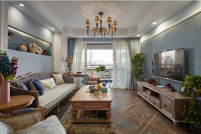绿都澜湾 三房两厅 美式混搭风格