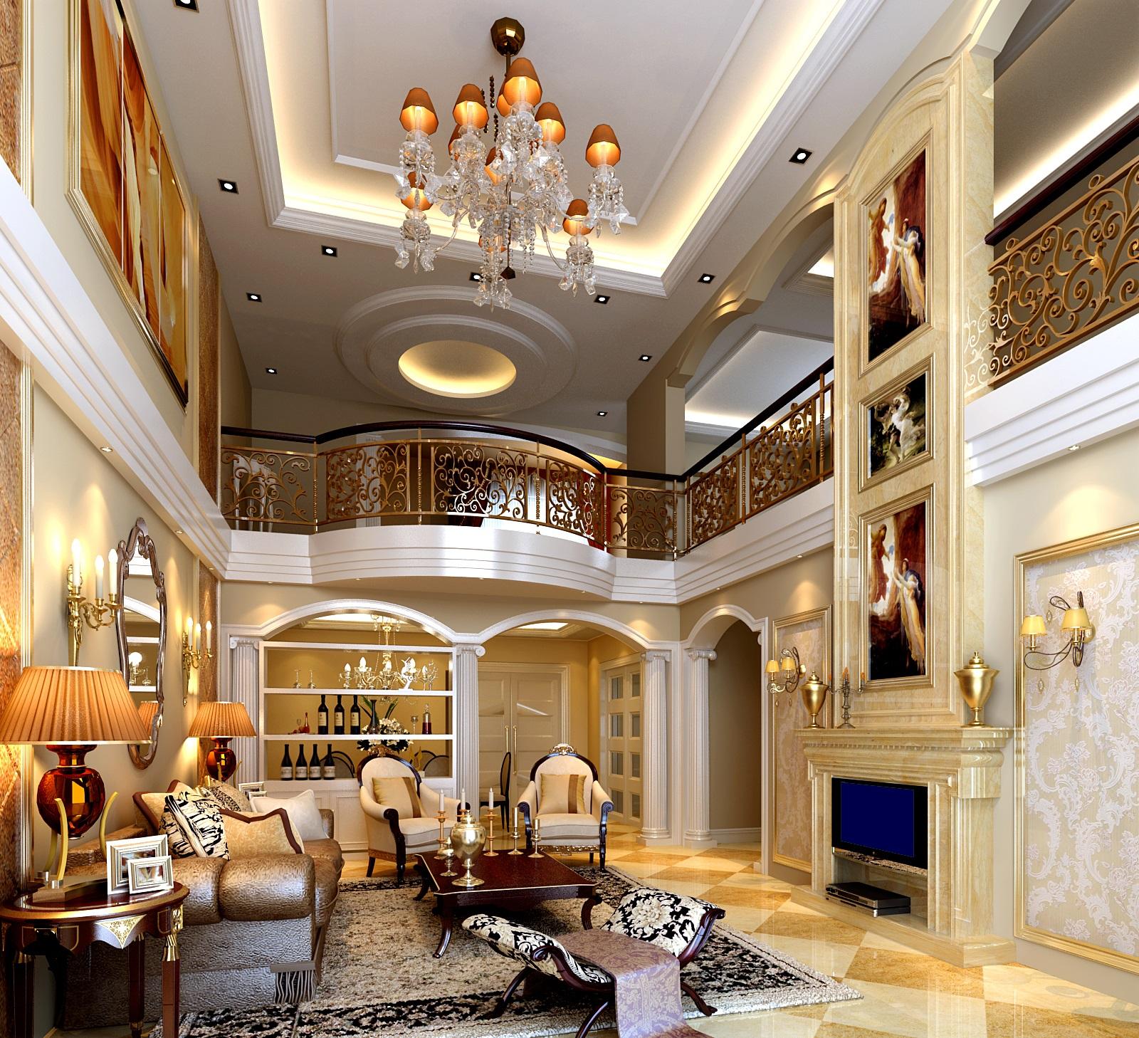 厚街海逸豪庭别墅室内装修案例