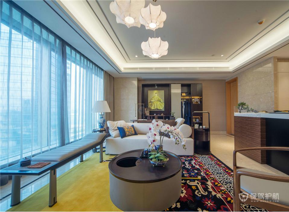 中式客厅效果图 中式 客厅背景墙