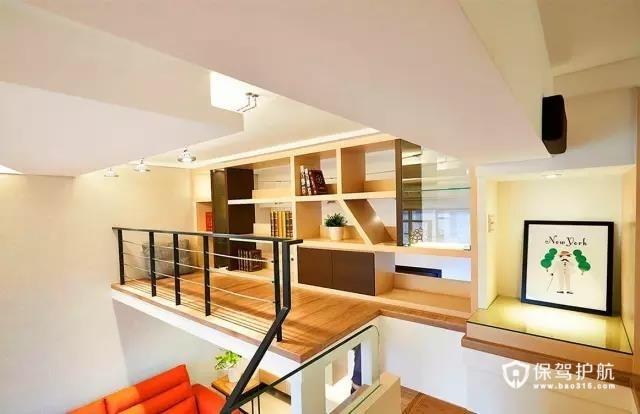 55平现代loft暖家  阁楼